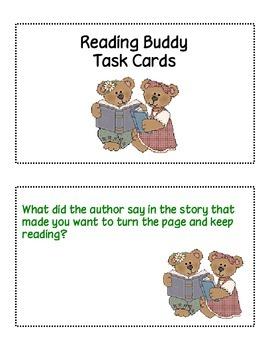 Reading Buddy Task Card