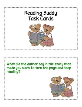 Reading Buddy Task Card