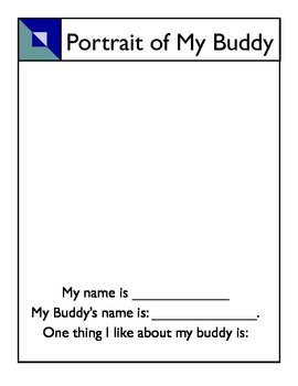 Reading Buddy portrait activity
