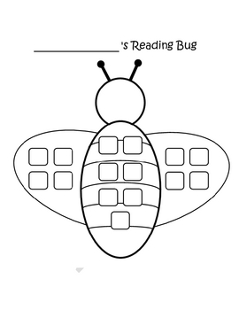 Reading Bug Sticker Chart