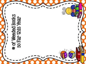 Reading Bug Themed Library Stats Mini Bulletin Board Set