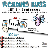 Reading Bugs 3 - SENTENCES with Blends+Digraphs+Word Families