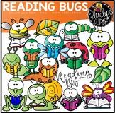 Reading Bugs Clip Art Set {Educlips Clipart}