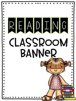 Reading Bulletin Board Bunting FREEBIE
