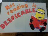 Minions from Despicable Me Reading Bulletin Board