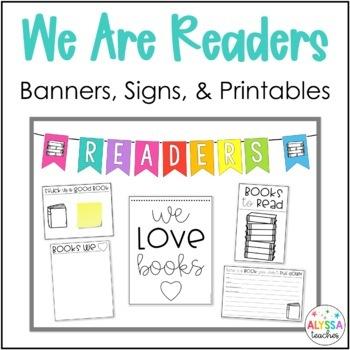 Reading Bulletin Board Set and Printables