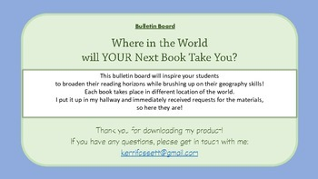 Reading Bulletin Board - Where in the World Will YOUR Next Book Take You?