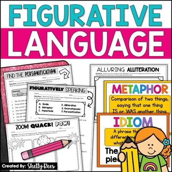 Theme, Author's Purpose, & Figurative Language Reading Bundle