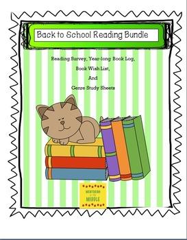 Reading Bundle: Survey, Log, WishList, Teacher Notes: Grades 3-7