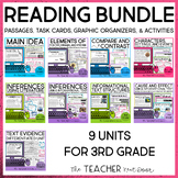 Reading Bundle for 3rd Grade Print and Digital  Distance Learning