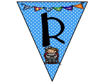 Reading Bunting Banner-Polka Dots Theme (blue)