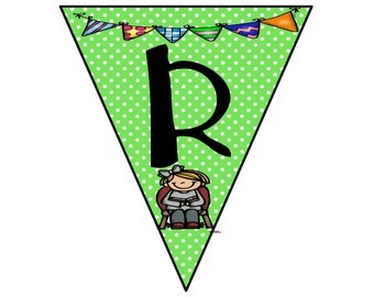 Reading Bunting Banner-Polka Dots Theme (green)