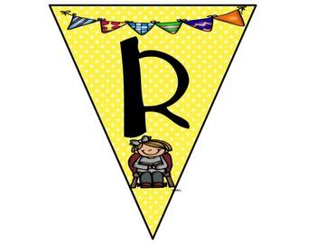 Reading Bunting Banner-Polka Dots Theme (yellow)