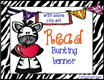 Reading Bunting Banner-Zebra Theme