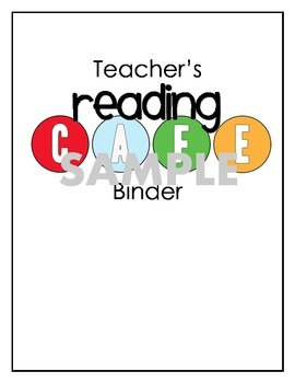 Reading CAFE matching binder cover and wall headers