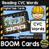 Reading CVC Words BOOM Cards:  Construction Theme