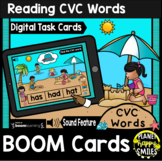 Reading CVC Words BOOM Cards:  Summer Fun at the Beach Theme