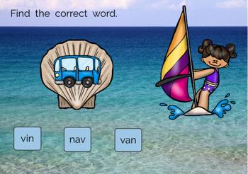 Reading CVC Words Boom Cards