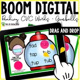 Reading CVC Words Boom Cards  - Drag and Drop Gumballs