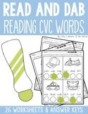 Reading CVC Words - Read and Dab Activity