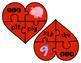 Reading CVC Words Valentine Heart Shaped Clip Cards