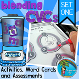 Blending CVC Words Set 1 Activities, Word Cards and Assessments