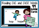 Reading CVC and CVCE Words ~ BOOM Cards ~ Distance Learning