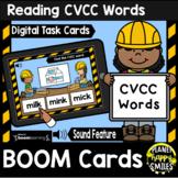 Reading CVCC Words BOOM Cards:  Construction Theme