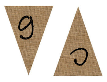 Reading Cafe Burlap Banner