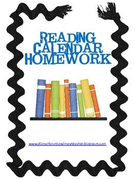 Reading Calendar Homework