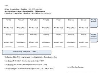 Reading Calendar (bi-weekly)