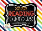 Reading Calendars {Aug-June 2021-2022}