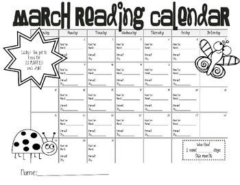 Reading Calendars- Feb, Mar, and Apr