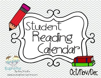 Reading Calendars- October, November, December 2015 Updated!
