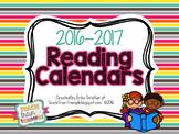 Reading Calendars for 2016-2017 {August-June}