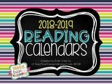 Reading Calendars for 2018-2019 {August-June}