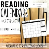 Reading Calendars: Alternatives to Reading Logs