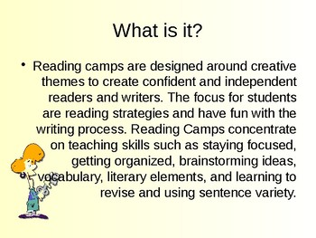 Reading Camp Ideas