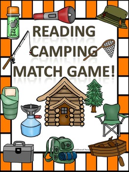 """Reading """"Camping Items"""" (Matching Card Game)"""