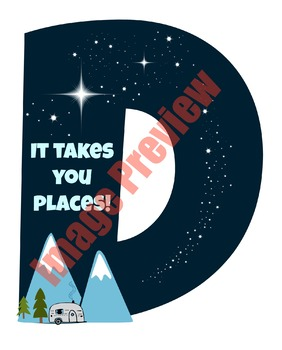 Reading Can Take You Places! Classroom Letter Decor