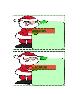 Christmas - Reading Santa Cause and Effect {Common Core}