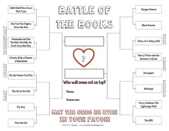Reading Celebration Packet with Battle of the Books Challenge!