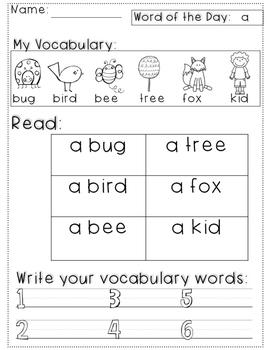 My Growing Vocabulary!