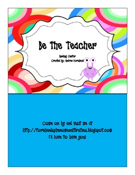 Reading Center: Be The Teacher