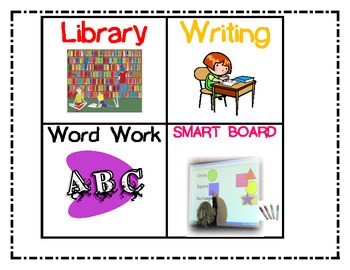 Reading Center Ceiling Hangars and Pocket Chart Pictures