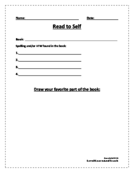 Reading Center FREEBIE