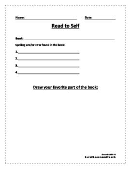 Reading Center FREEBIE