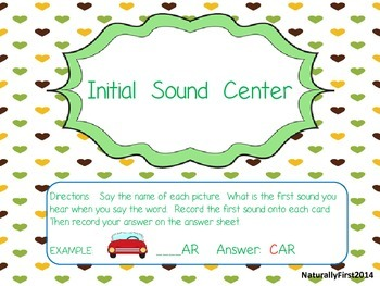 Reading Center-Initial Sound