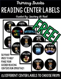 FREEBIE!!! Reading Center Labels