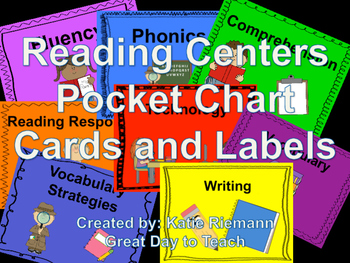Reading Center Labels for Pocket Charts and Center Tubs